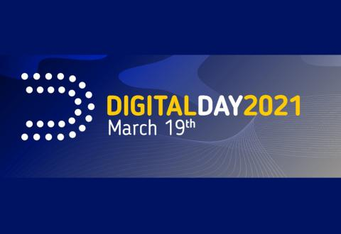banner of the event showing a blue background with text Digital Day 2021